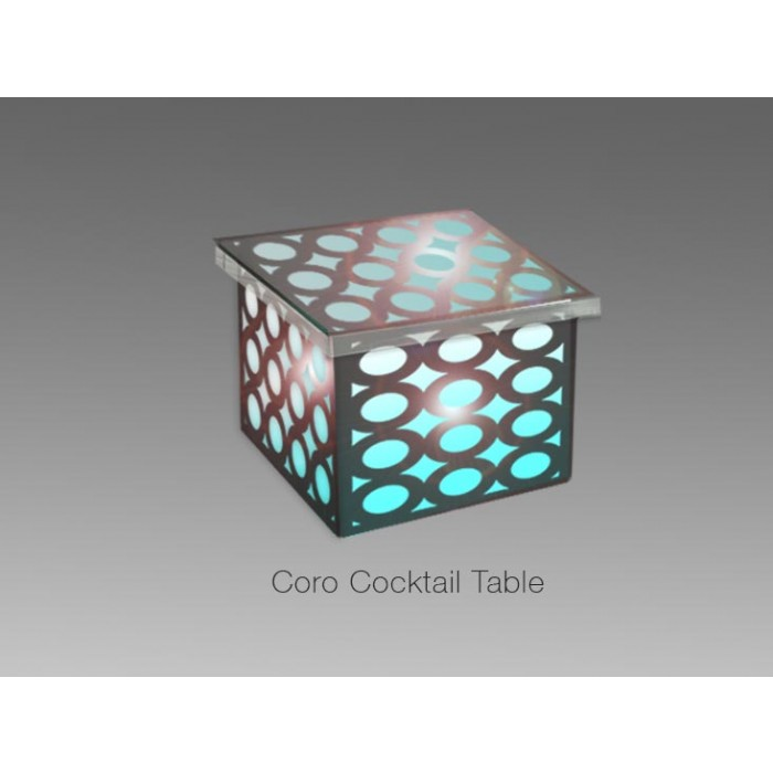 Coro led cocktail table for Cocktail tables led